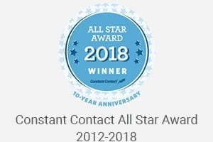 Constant Contact All Star Award 2012-2018